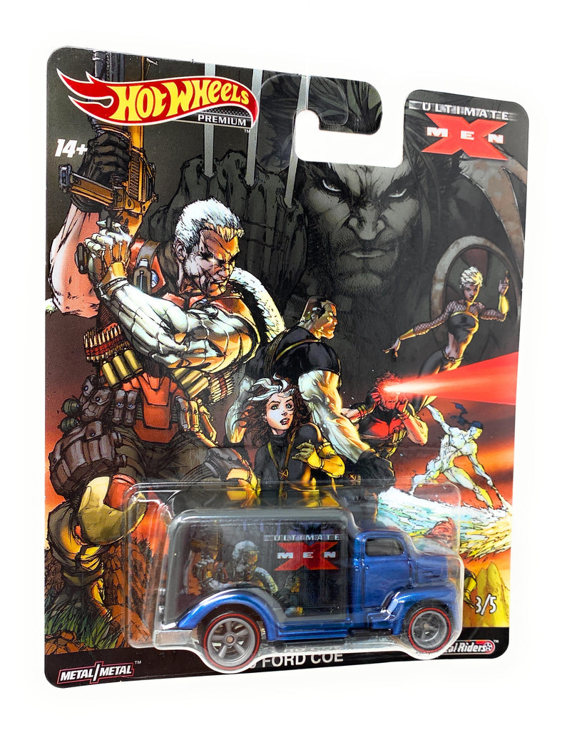 Hot Wheels Premium, Real Riders, '49 Ford Coe from the X-Man set.3/5