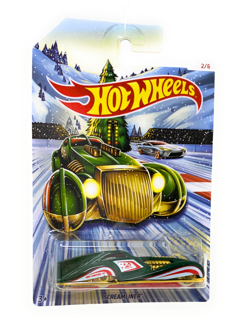 Hot Wheel Screamliner from thr 2019 Holiday Hotrod set 2/6