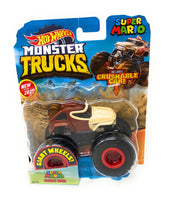 Hot Wheels Monster Trucks Super Mario Donkey Kong, Giant wheels, including crushable car