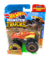 Hot Wheels Monster Trucks Hotweiler, Giant wheels, including connect and crash car