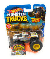 Hot Wheels Monster Trucks Wild Streak, Giant wheels, including connect and crash car