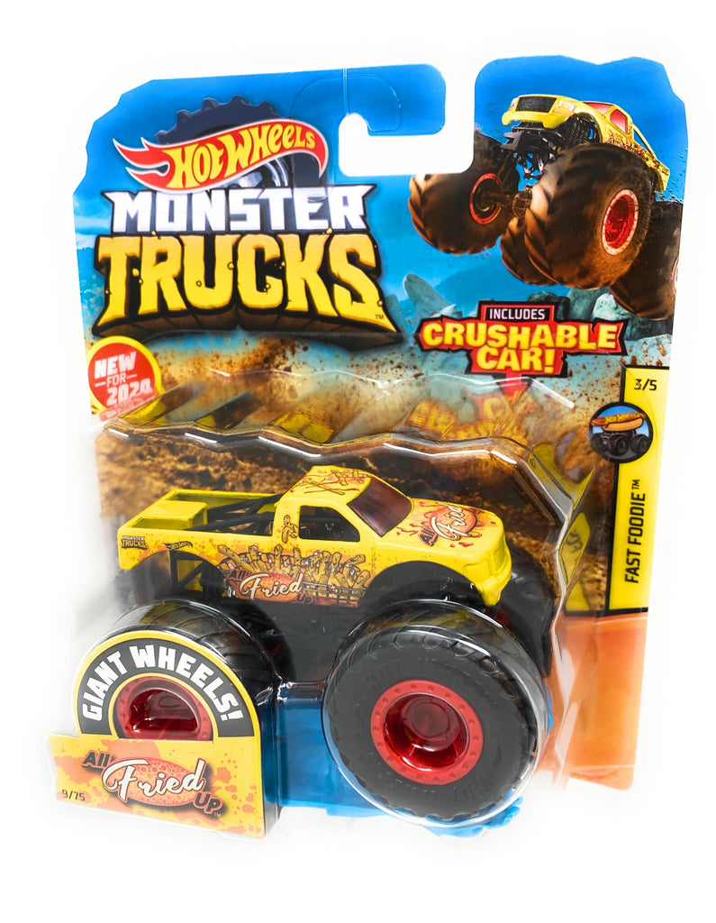 Hot Wheels Monster Trucks All Fried Up, Giant wheels, including crushable car