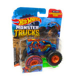 Hot Wheels Monster Trucks Abyss-Mal, Giant wheels, including crushable car