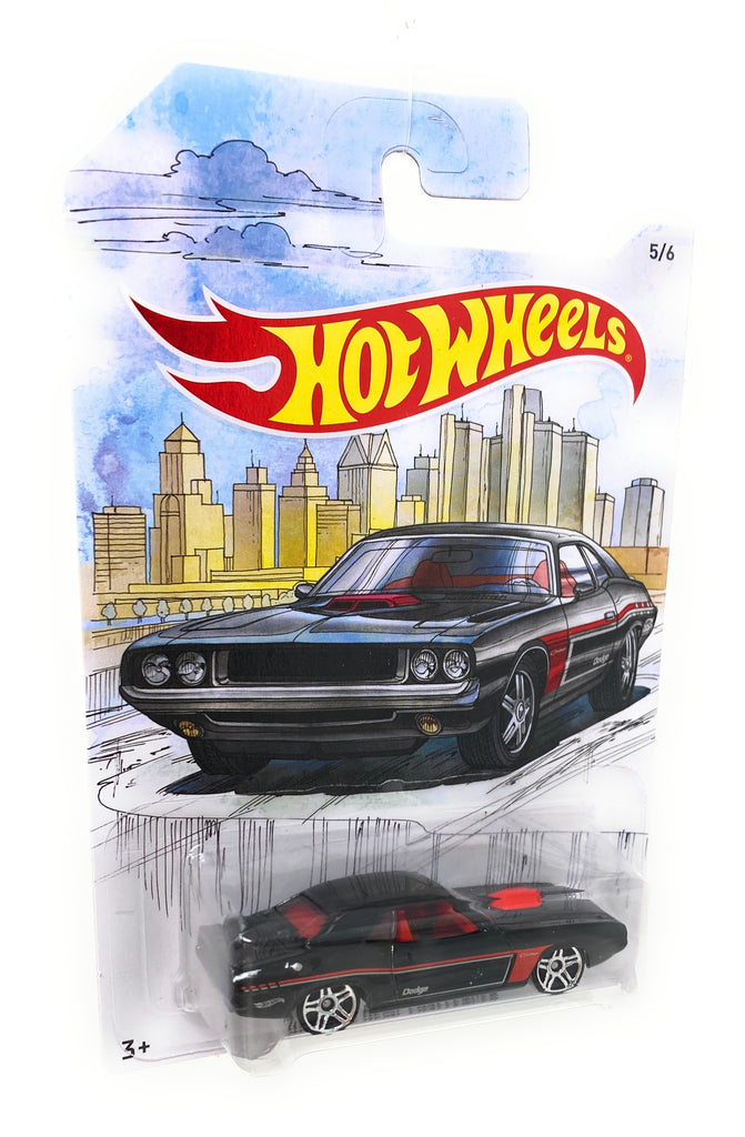Hot Wheels '70 Dodge Hemi Challenger from the 2019 Detroit Muscle Set, 5/6