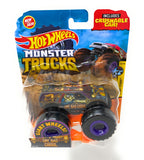 Hot Wheels Monster Trucks One Bad Ghoul, Giant wheels, including crushable car