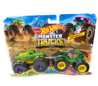 Hot Wheels Monster Trucks A51 Patrol and Test Subject, Giant Wheels, 2 pack