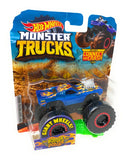 Hot Wheels Monster Trucks Dodge Charger R/T, Giant wheels, including connect and crash car
