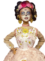 Barbie Signature Dia De Muertos 2020 Doll (12 Inch Brunette) in Embroidered Lace Dress and Flower Crown