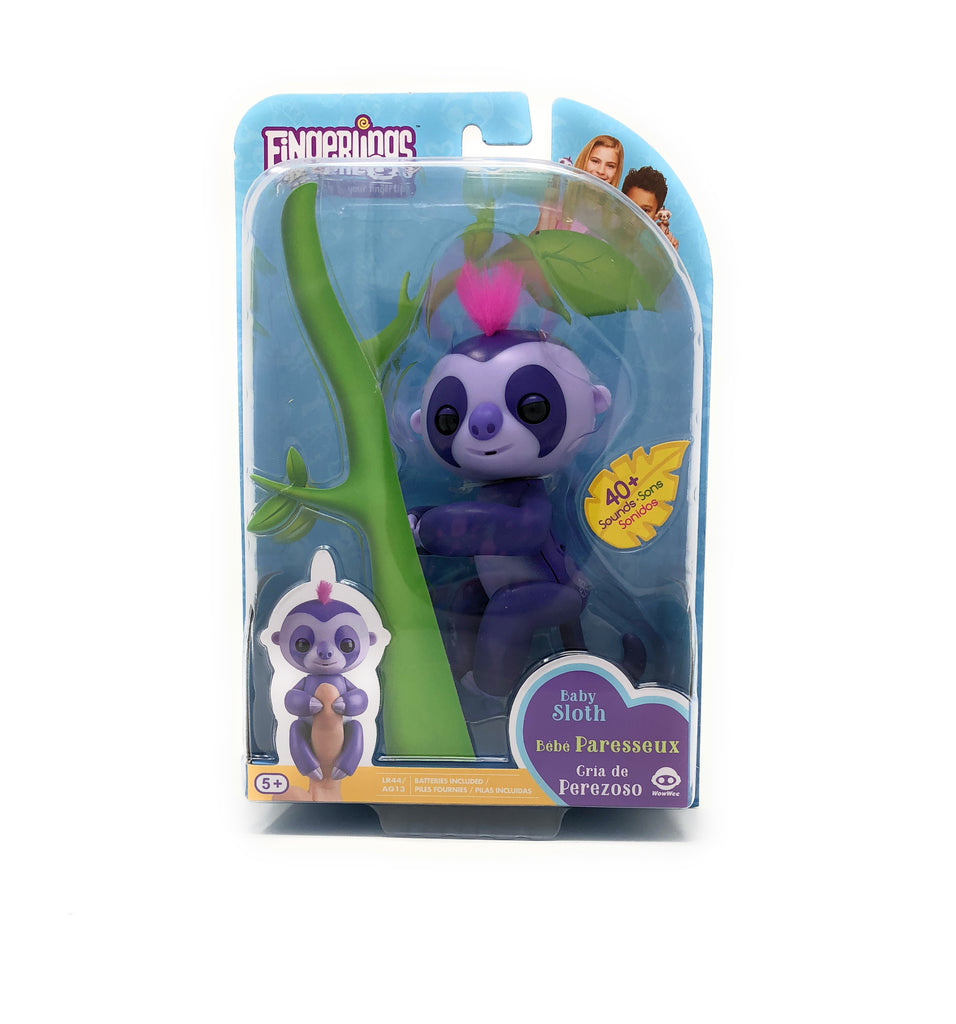 Fingerlings Sloth Marge (Purple with Pink Hair)