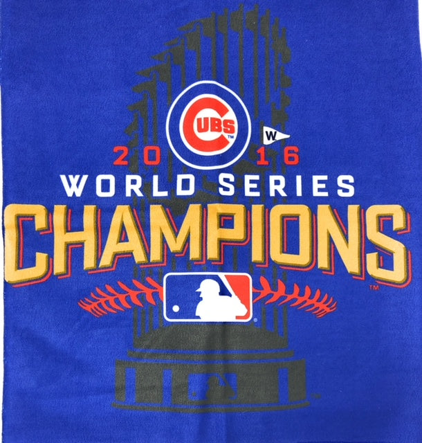 Chicago Cubs Blue 2016 World Series Champions Towel