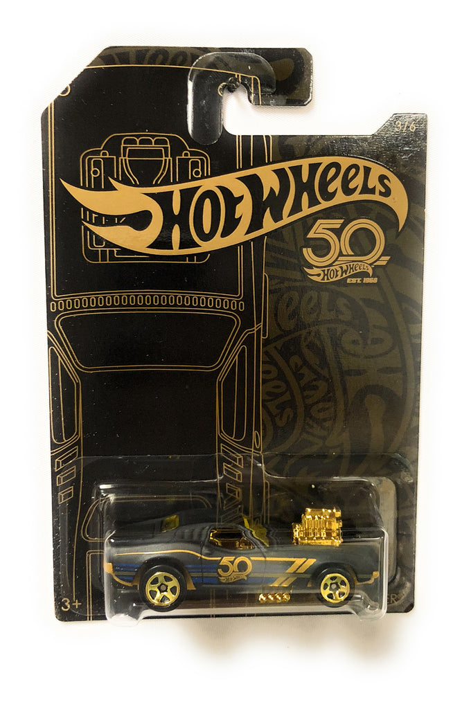 Hot Wheels Black & Gold 50th Anniversary Car 3/6 Rodger Dodger