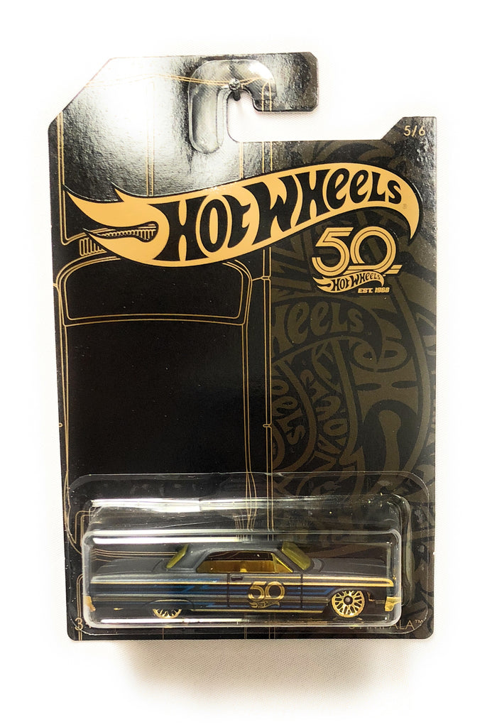 Hot Wheels Black & Gold 50th Anniversary Car 5/6 '64 Impala