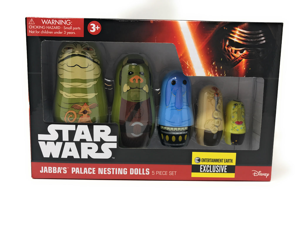 Star Wars Jabba's Palace Nesting Dolls 5 Piece Set