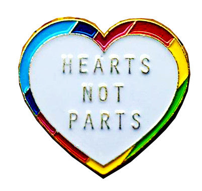 Hearts Not Parts Pin