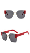 H1002 - Square Oversize Fashion Cat Eye  Sunglasses
