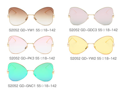 S2052 - Women Oversize Butterfly Sunglasses - Iris Fashion Inc. | Wholesale Sunglasses and Glasses