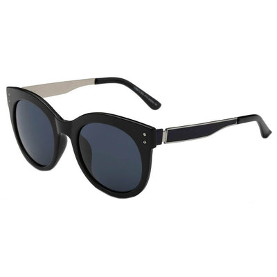 26015 - Trendy Polarized Round Horn Rimmed Sunglasses - Iris Fashion Inc. | Wholesale Sunglasses and Glasses