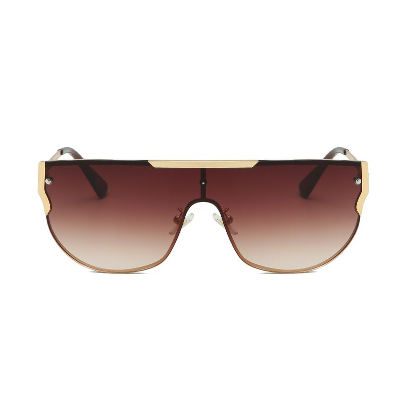 58156 - Flat Top Retro Metal Round Fashion Sunglasses