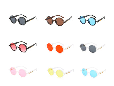 022 - Retro Circle Round Vintage Fashion Sunglasses