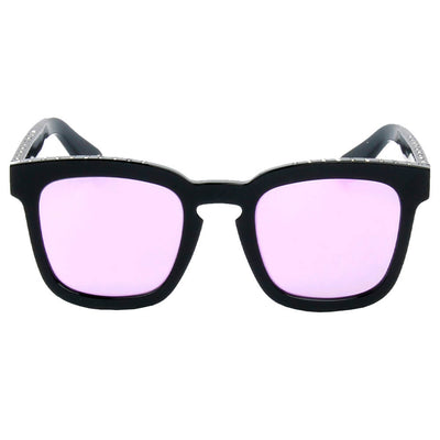 58017 Hipster Square Horn Rimmed Sunglasses w/ Rhinestone Dotted Frame - Iris Fashion Inc. | Wholesale Sunglasses and Glasses