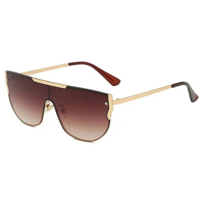 58156 - Flat Top Retro Metal Round Fashion Sunglasses - Iris Fashion Inc. | Wholesale Sunglasses and Glasses