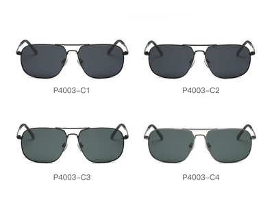 P4003  - Men Metal Rectangle Polarized Sunglasses - Iris Fashion Inc. | Wholesale Sunglasses and Glasses