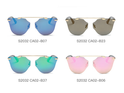 S2032 - Women Round Cat Eye Sunglasses - Iris Fashion Inc. | Wholesale Sunglasses and Glasses
