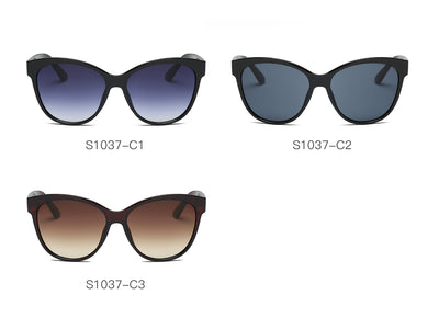 S1037 - Women Round Cat Eye Sunglasses - Wholesale Sunglasses and glasses