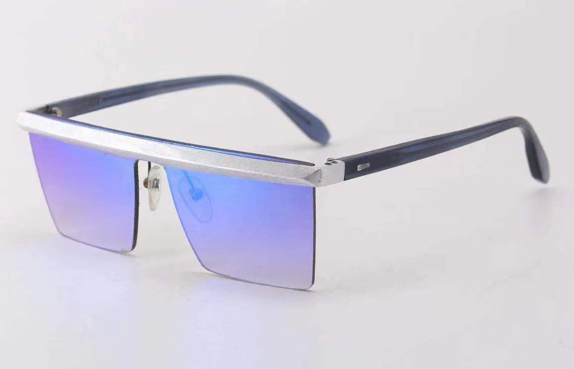 Flat Top Square Mirrored Fashion Sunglasses