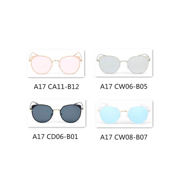 26f6632e03c A17 Women s Flat Lens Metal Frame Cat Eye Sunglasses - Wholesale Sunglasses  and glasses ...