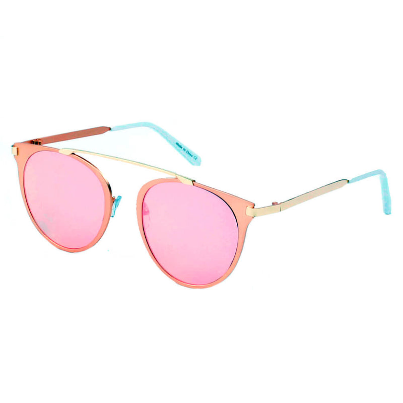A18 Modern Horn Rimmed Metal Frame Round Sunglasses - Iris Fashion Inc. | Wholesale Sunglasses and Glasses