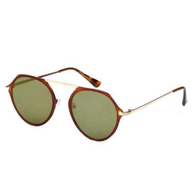 A19 Modern Flat Top Slender Round Sunglasses - Iris Fashion Inc. | Wholesale Sunglasses and Glasses