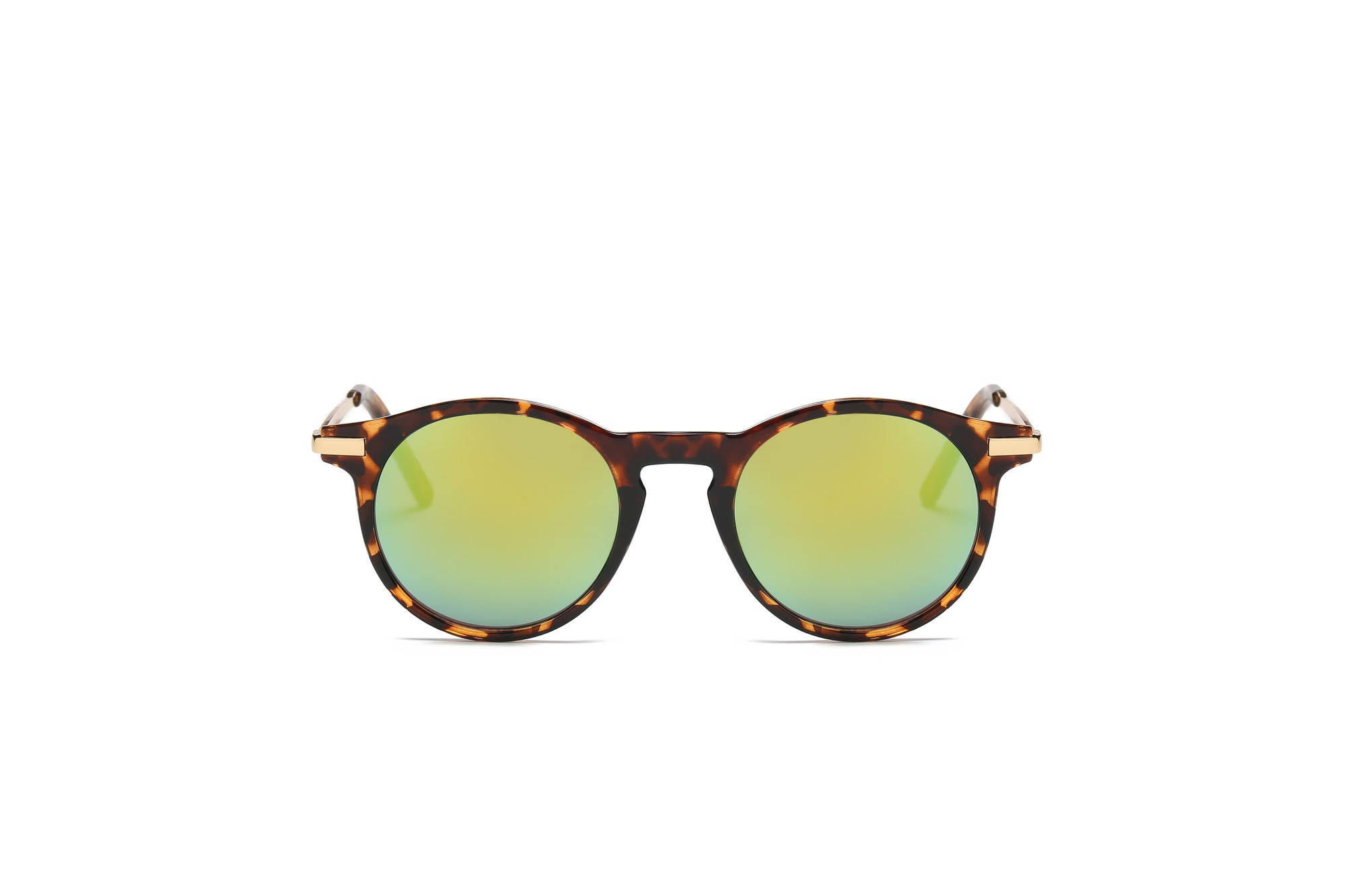 S1001 - Modern Round P3 Golden Mirrored Lens Sunglasses - Wholesale Sunglasses and glasses