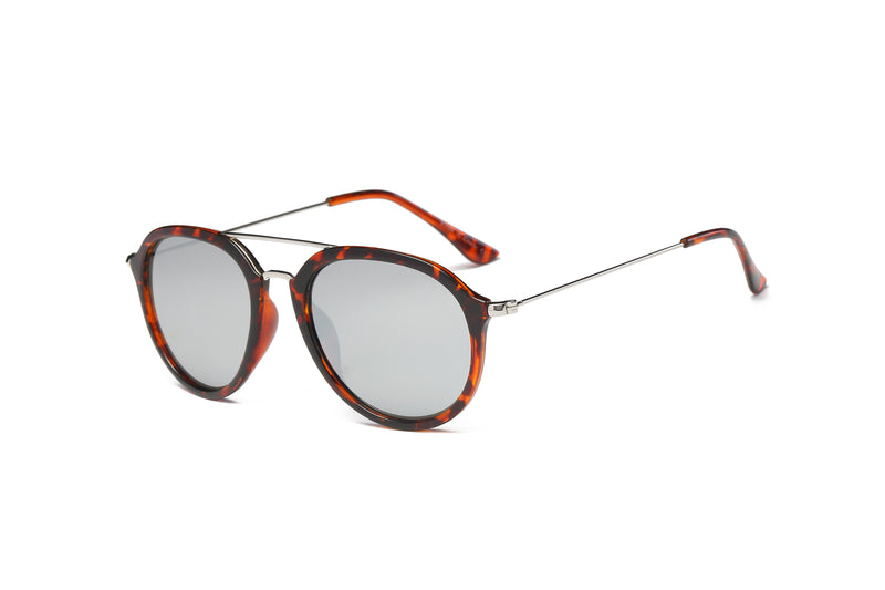 53fc080f68c E16 Round P3 Horn Rimmed Mirrored Sunglasses - Wholesale Sunglasses and  glasses here we show