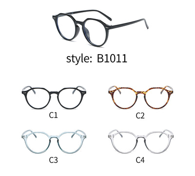 B1011 - Classic Circle Round Blue Light Blocker Fashion Glasses