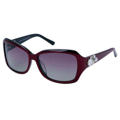 B6724 Polarized Rectangular Sunglasses w/ Floral Detail - Iris Fashion Inc. | Wholesale Sunglasses and Glasses