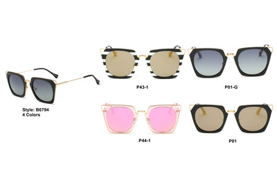 PRSR-B6794 - Women Square Fashion Sunglasses - Iris Fashion Inc. | Wholesale Sunglasses and Glasses