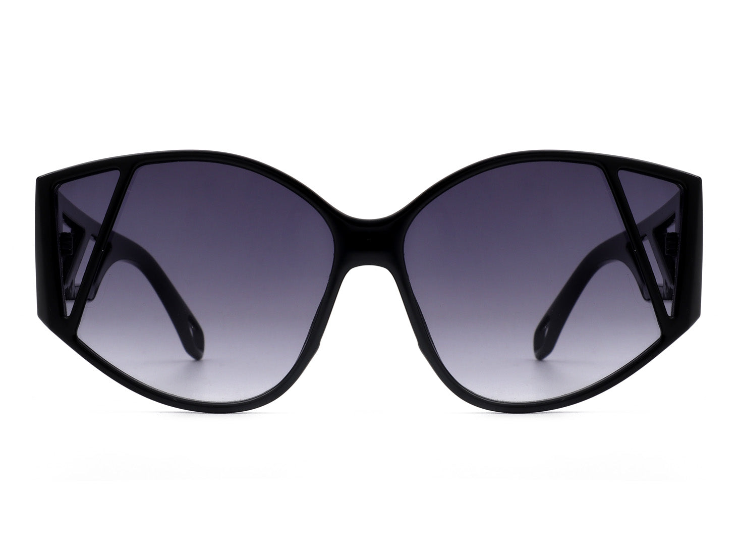 HS1007 - Women Geometric Round Cat Eye Fashion Sunglasses