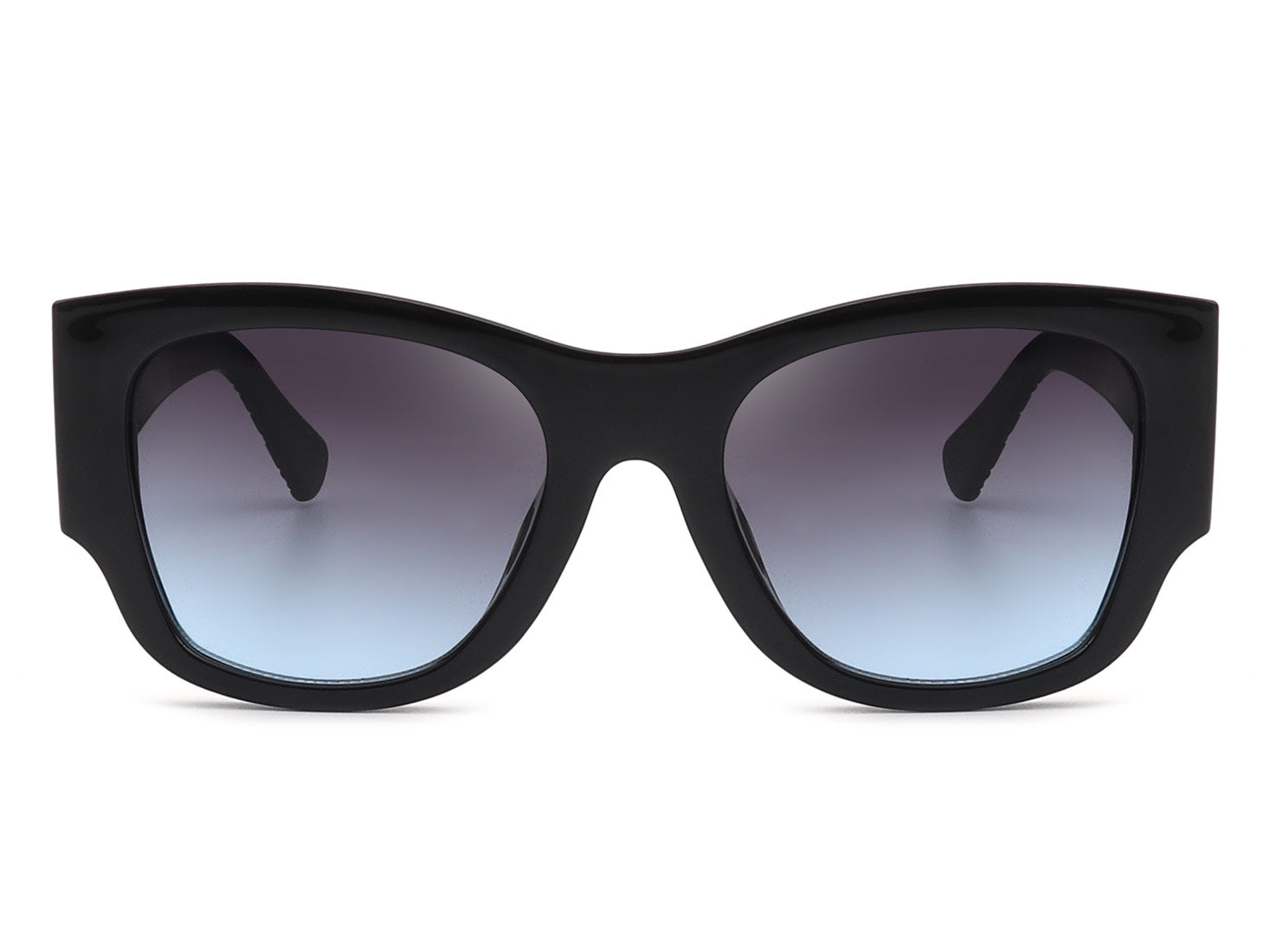 HS1030 - Women Round Cat Eye Bold Oversize Fashion Sunglasses