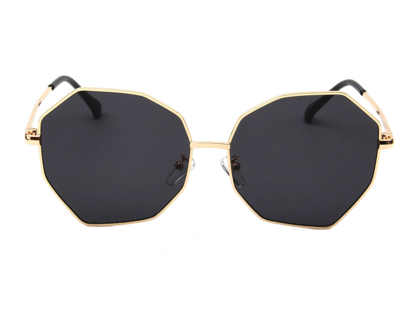 J2002 - Women Round Oversize Geometric Fashion Sunglasses