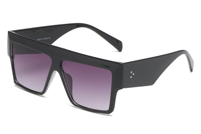 S1122 - Flat Top Square Oversize Sunglasses - Iris Fashion Inc. | Wholesale Sunglasses and Glasses