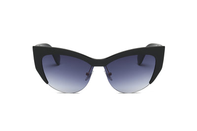 S2054 - Women Half-Frame Cat Eye Sunglasses - Iris Fashion Inc. | Wholesale Sunglasses and Glasses