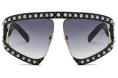 S6001 Women Fashion Shield Oversize Semi-Rimless Sunglasses - Wholesale Sunglasses and glasses