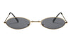 S2078 True Retro Vintage Slim Metal Oval Round Sunglasses - Wholesale Sunglasses and glasses here we show