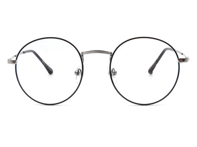 HBJ2016 - Classic Round Circle Metal Blue Light Fashion Glasses