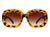HS1025 - Round Oversize Oval Retro Fashion Sunglasses