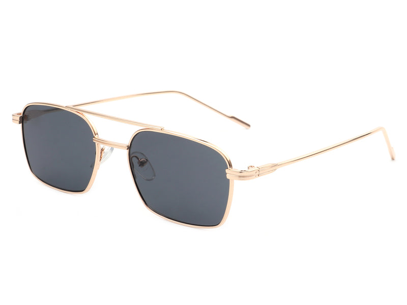 HJ2003 - Classic Retro Square Brow-Bar Fashion Sunglasses