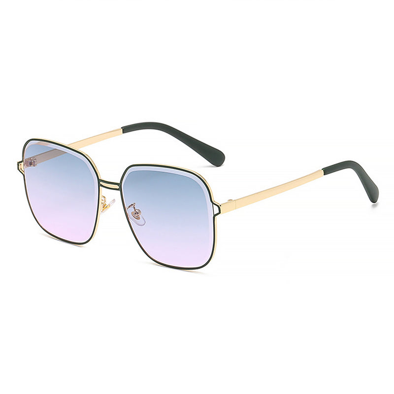 J3001 - Retro Square Metal Designer Fashion Sunglasses
