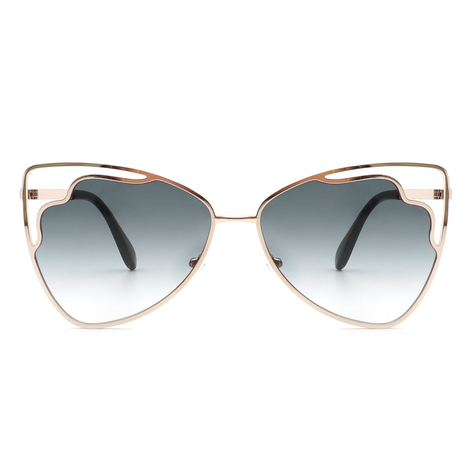 HJ3005 - Women Cat Eye Triangle Metal Fashion Sunglasses