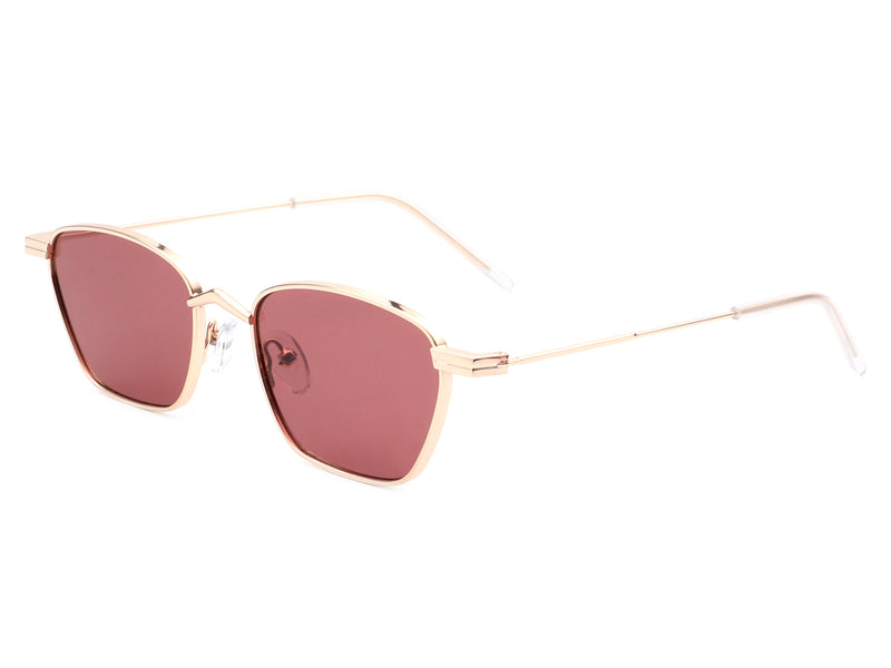 J2016 - Retro Square Vintage Metal Fashion Cat Eye Designer Sunglasses